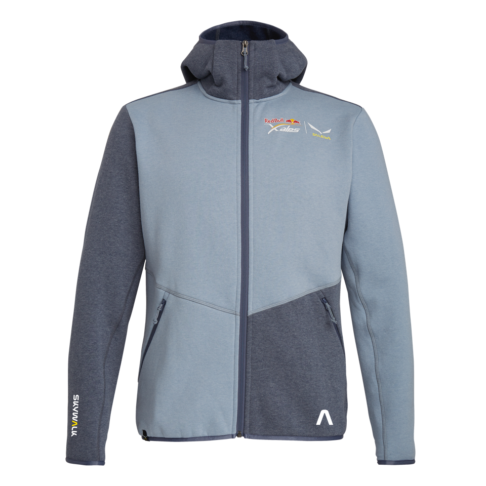 X-ALPS Full-Zip Hoodie - Men - blue fog